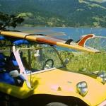 Vintage dune buggy at Bolinas Lagoon